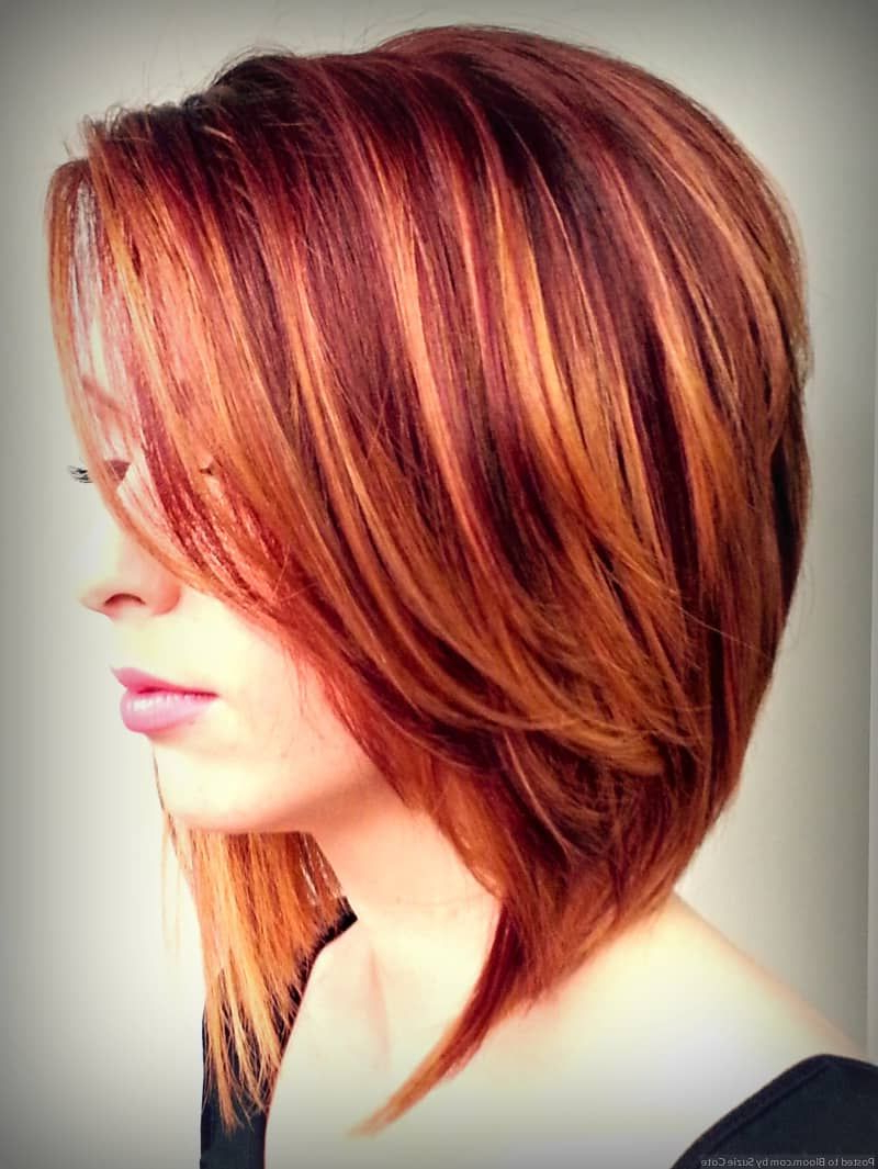 Short Haircuts With Highlights And Lowlights Auburn Hair 1 | Red Throughout Red Short Hairstyles (View 11 of 25)