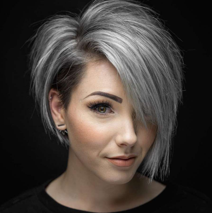 Short Hairstyle 2018 – 67 | Hair In 2018 | Pinterest | Hair, Short Regarding Gray Short Hairstyles (View 5 of 25)