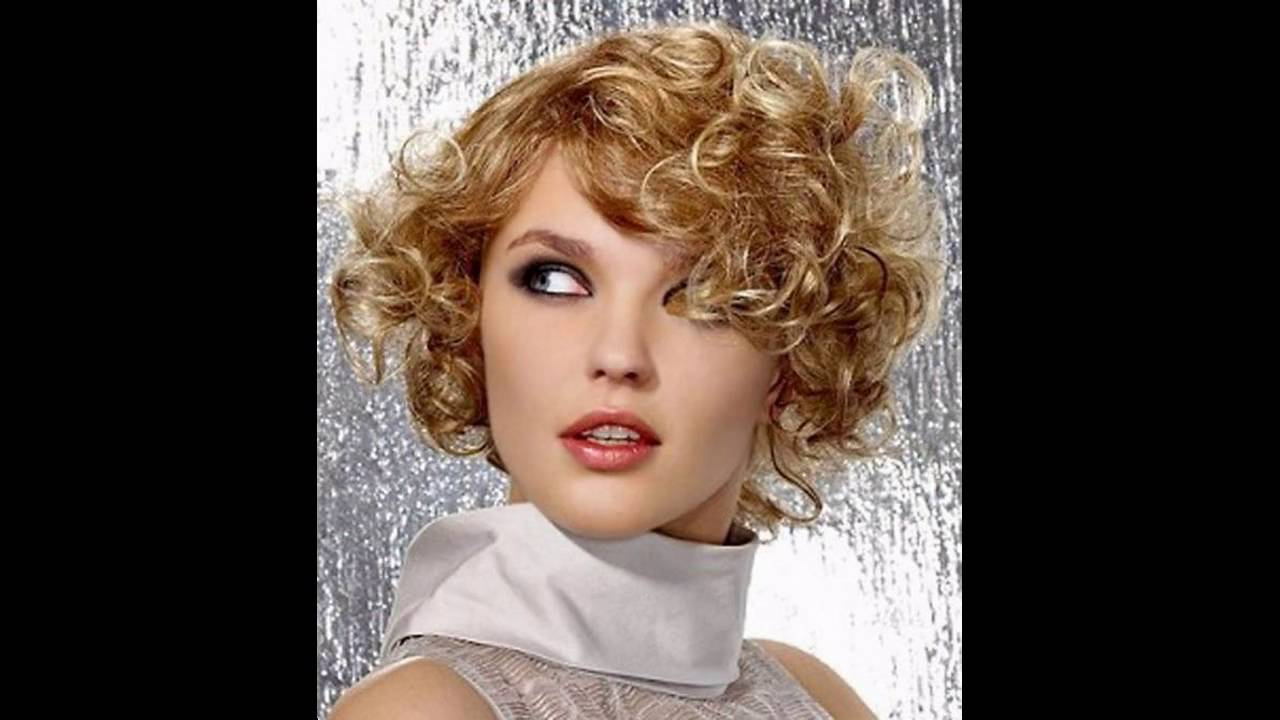 Short Hairstyle For Curly Hair Round Face – Youtube With Regard To Curly Hair Short Hairstyles (View 25 of 25)