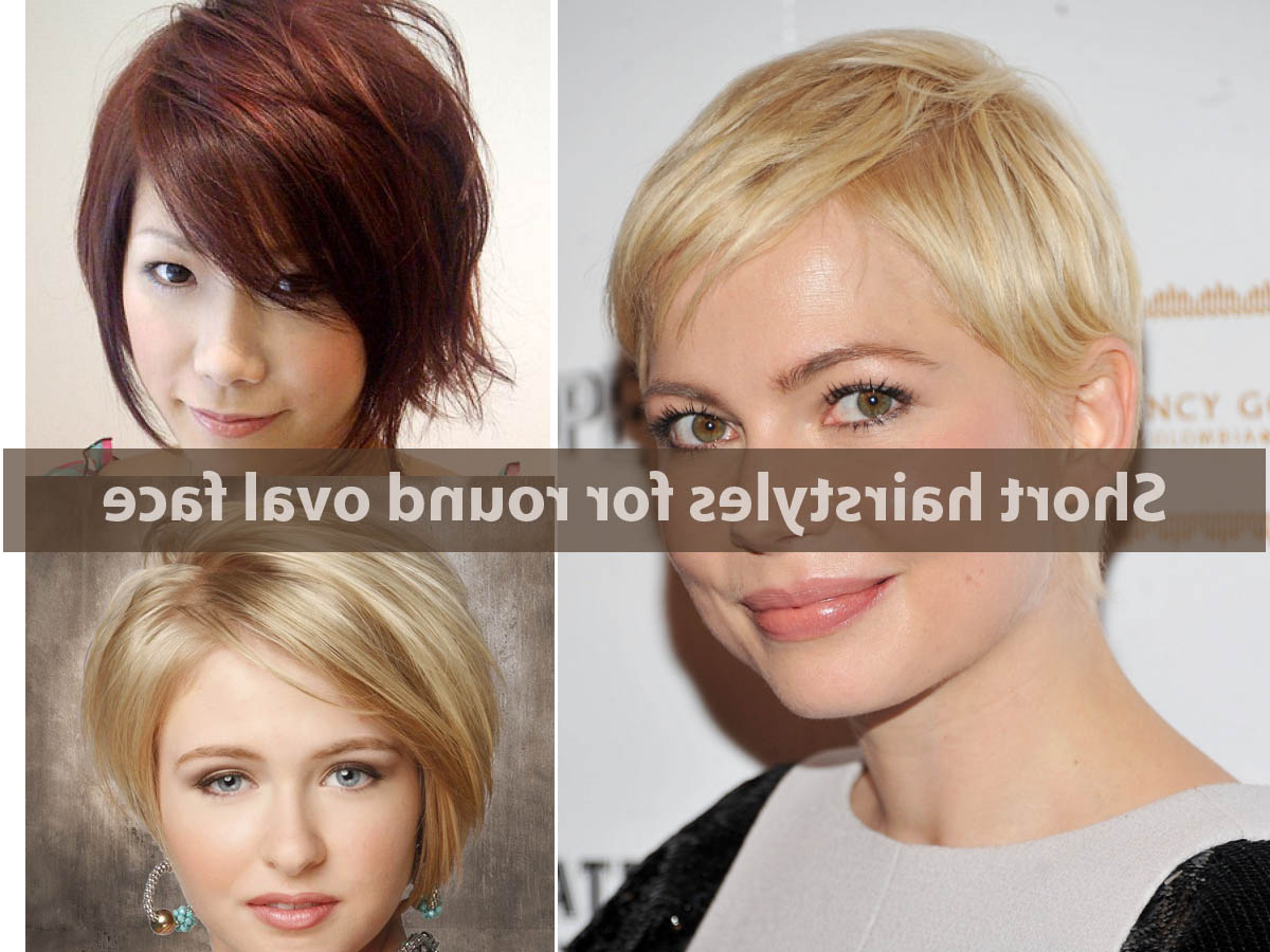 Short Hairstyle For The Oval Shape Short Hairstyles For Round Oval Pertaining To Short Haircuts For Oblong Face (View 14 of 25)