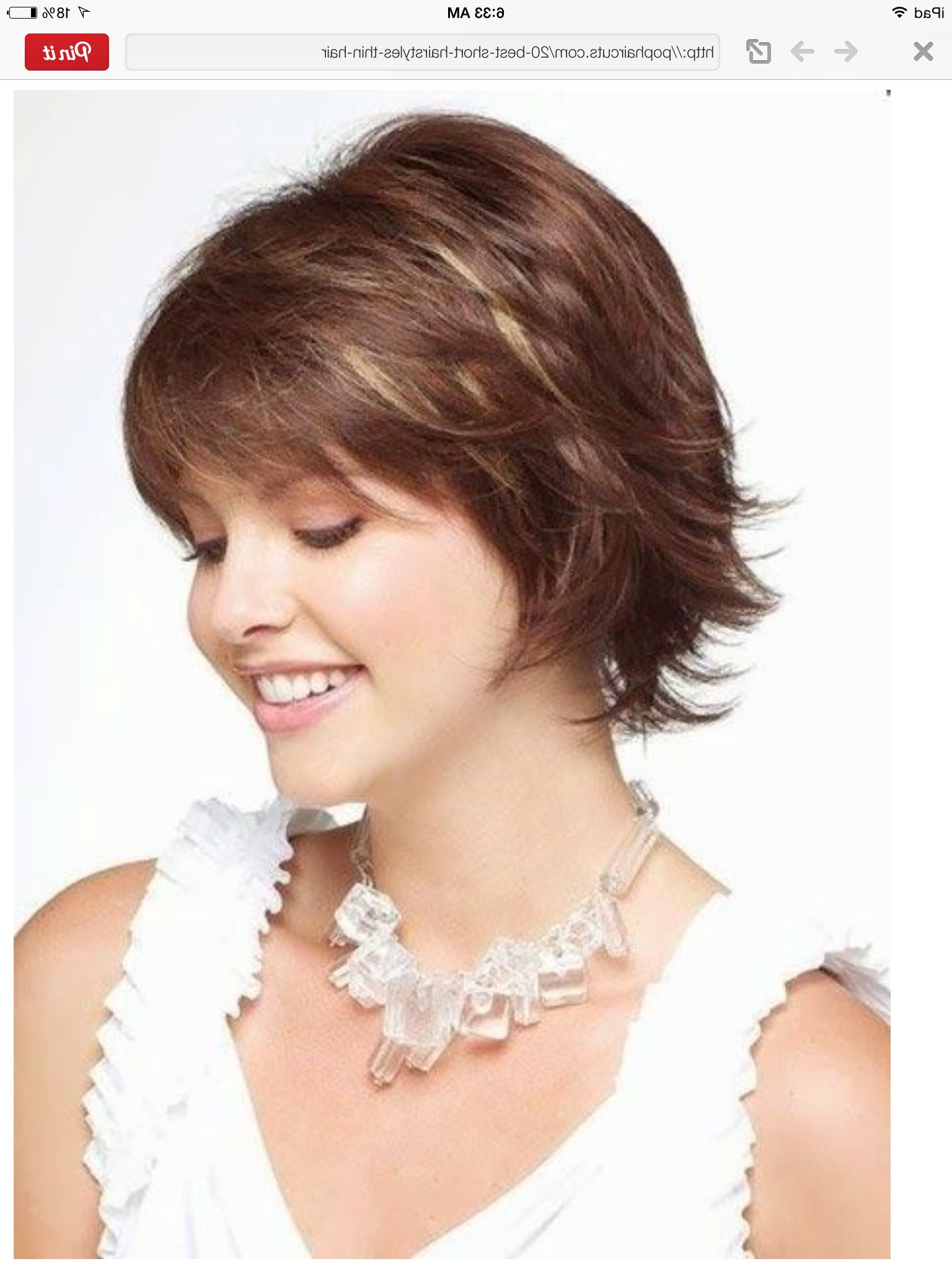 Short Hairstyle | Short Hairstyles | Pinterest | Short Hairstyle With Cute Short Haircuts For Thin Hair (View 24 of 25)