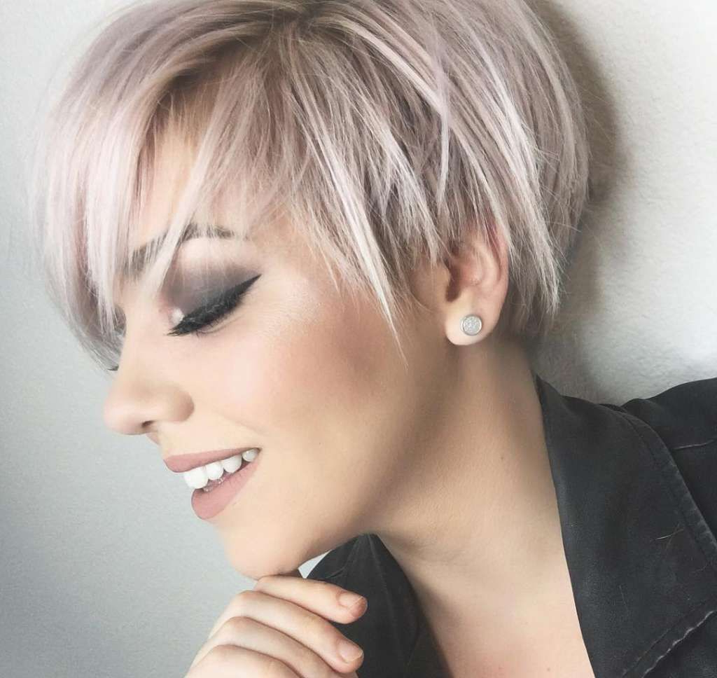 Short Hairstyles 2017 | Hair And Makeup | Pinterest | Short Hair Intended For Pink Short Hairstyles (View 3 of 25)