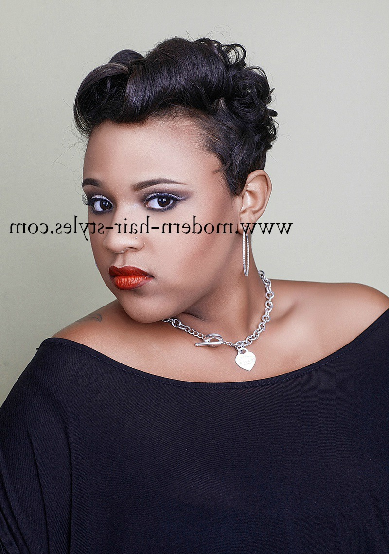 Short Hairstyles For Black Women, Self Styling Options, And Within Black Women Short Haircuts (View 24 of 25)
