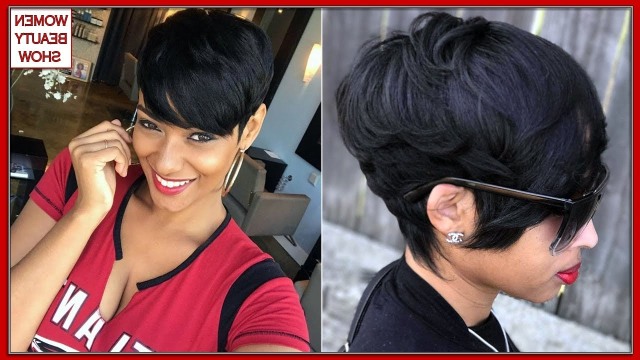 Short Hairstyles For Black Women With Natural Hair 2019 – Natural Pertaining To Cute Short Hairstyles For Black Women (View 20 of 25)