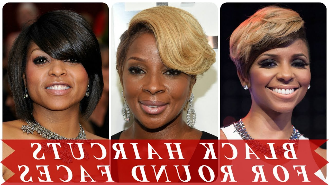 Short Hairstyles For Black Women With Round Faces – Youtube Pertaining To Short Haircuts For Black Women Round Face (View 10 of 25)