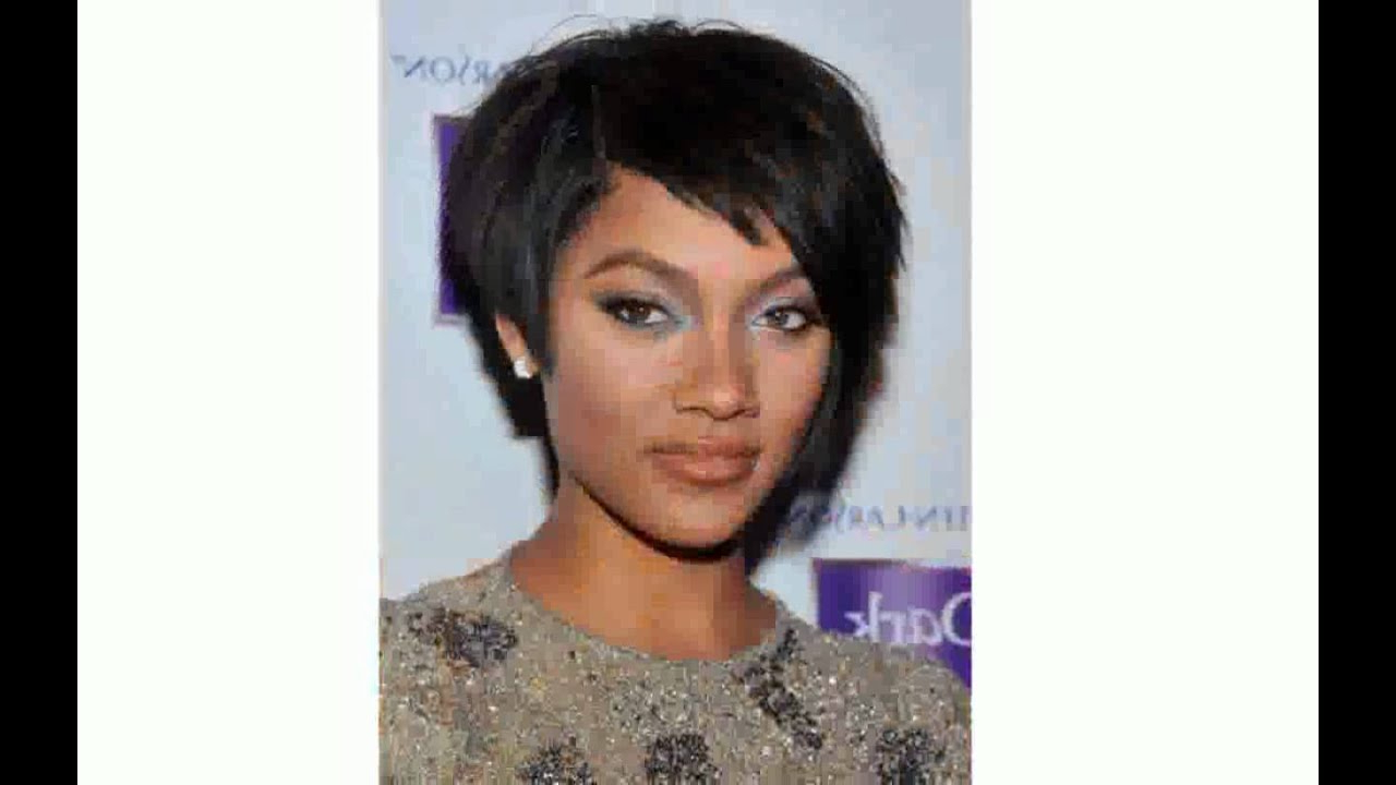 Short Hairstyles For Black Women With Thin Hair – Youtube Within Bob Short Hairstyles For Black Women (View 21 of 25)