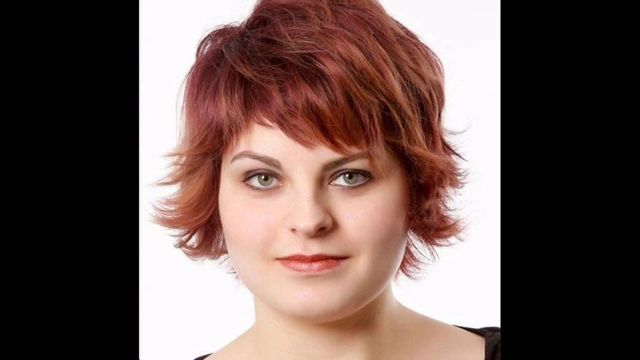 Short Hairstyles For Chubby Faces – Youtube In Short Hair For Round Chubby Face (View 9 of 25)