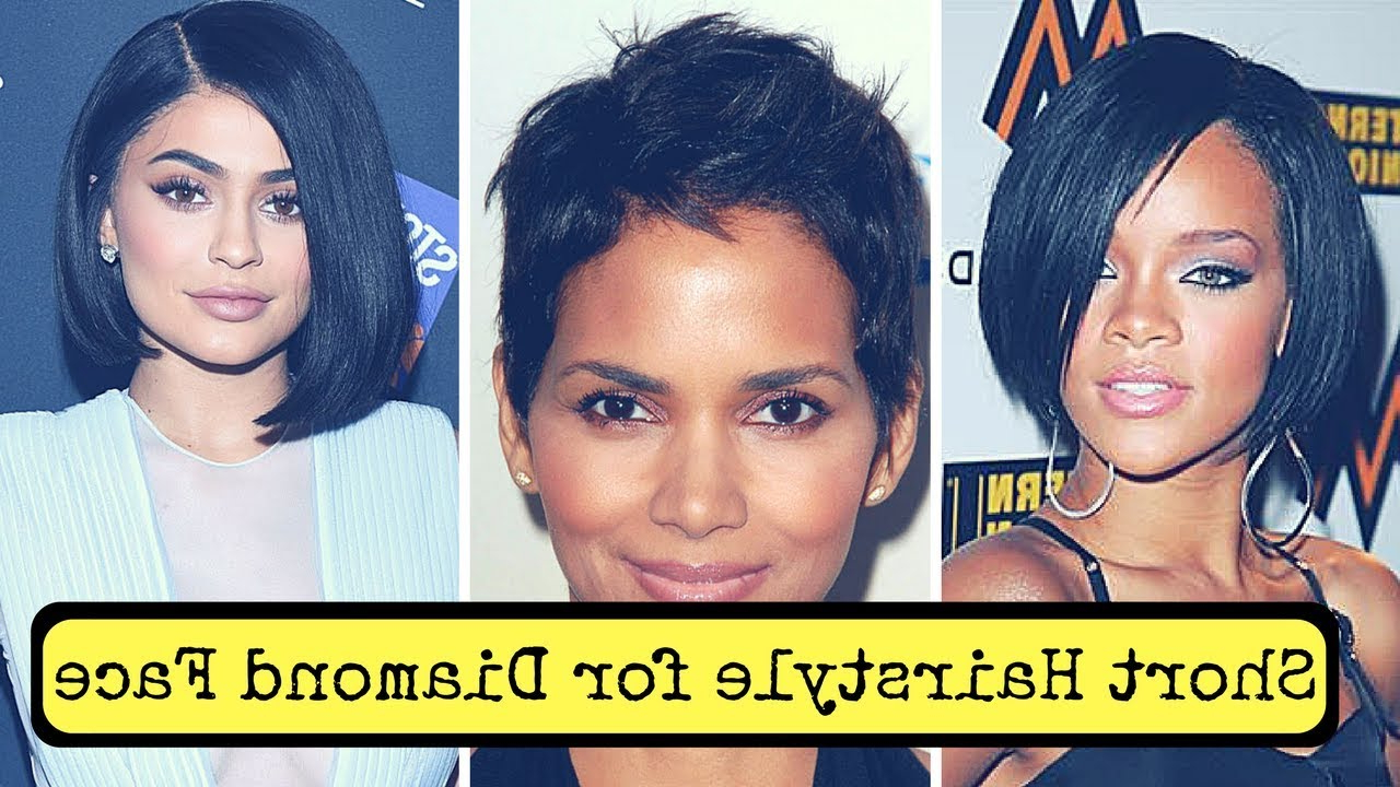 Short Hairstyles For Diamond Face Shape (2018) – Youtube In Short Haircuts For Different Face Shapes (View 20 of 25)