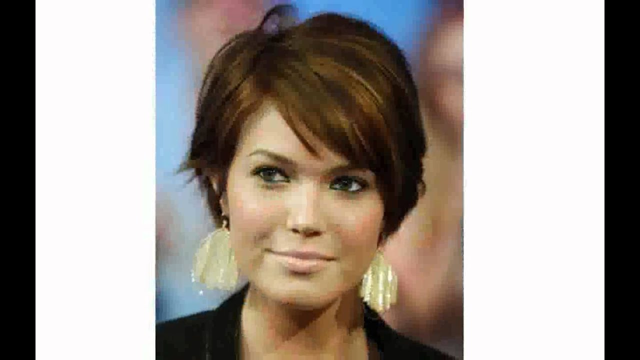 Short Hairstyles For Fat Faces Women – Youtube Within Short Haircuts For Women With Glasses (View 17 of 25)