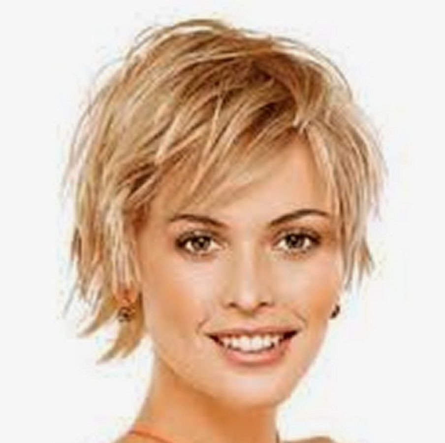 Short Hairstyles For Fine Hair Over 50 Round Face – Hairstyle For With Short Layered Hairstyles For Fine Hair Over  (View 4 of 25)