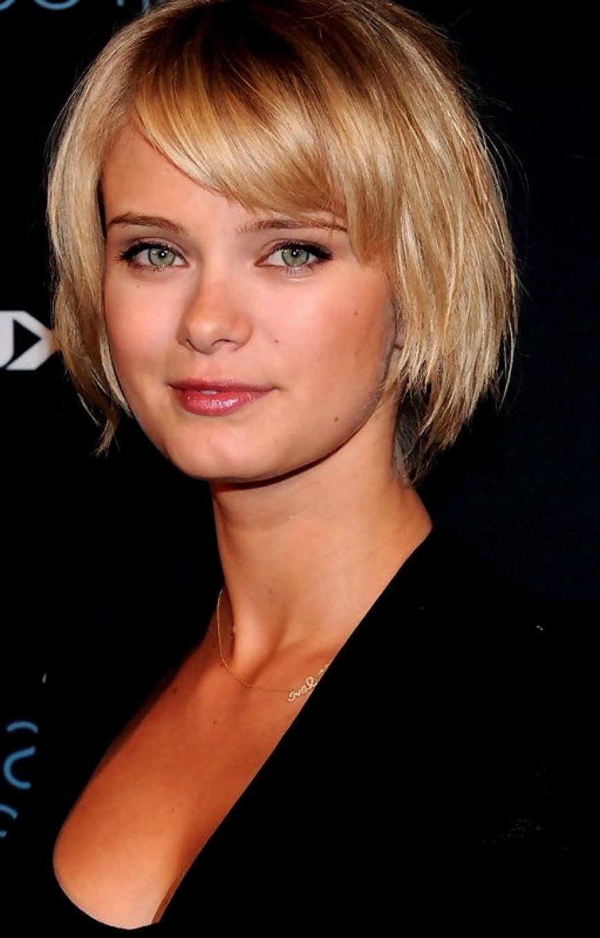 Short Hairstyles For Fine Hair With Bangs » Best Hairstyles Within Short Hairstyles With Bangs For Fine Hair (View 5 of 25)