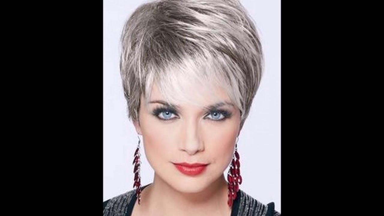 Short Hairstyles For Grey Hair Gallery – Youtube With Short Hairstyles For Salt And Pepper Hair (View 3 of 25)
