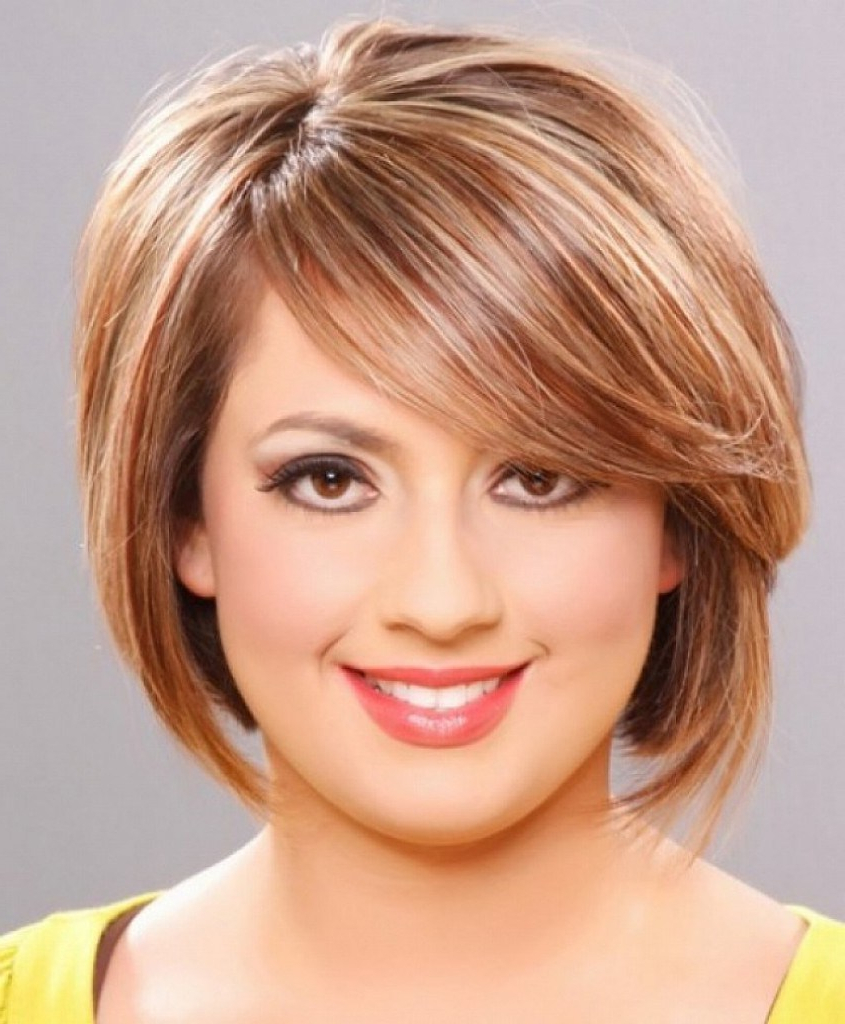 Short Hairstyles For Round Faces 2014 – Hairstyle For Women & Man Regarding Trendy Short Haircuts For Round Faces (View 8 of 25)