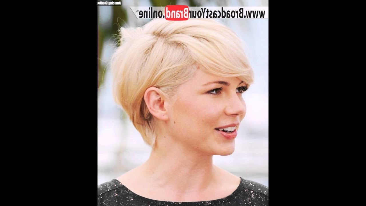 Short Hairstyles For Round Faces 2016 – Youtube Regarding Short Hairstyles For Round Face (View 18 of 25)