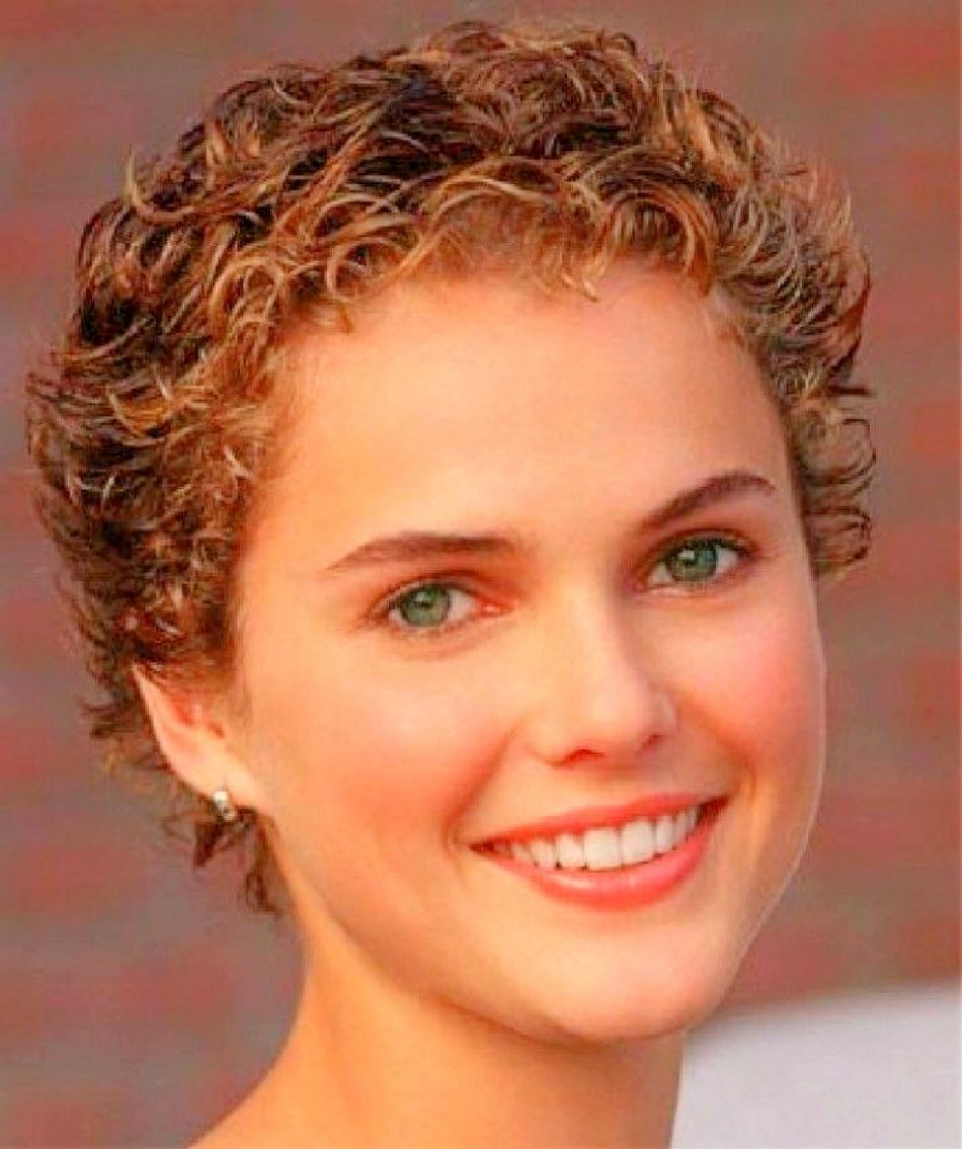 Short Hairstyles For Round Faces And Fine Curly Hair Easy Black For Short Hairstyles For Round Faces Curly Hair (View 21 of 25)