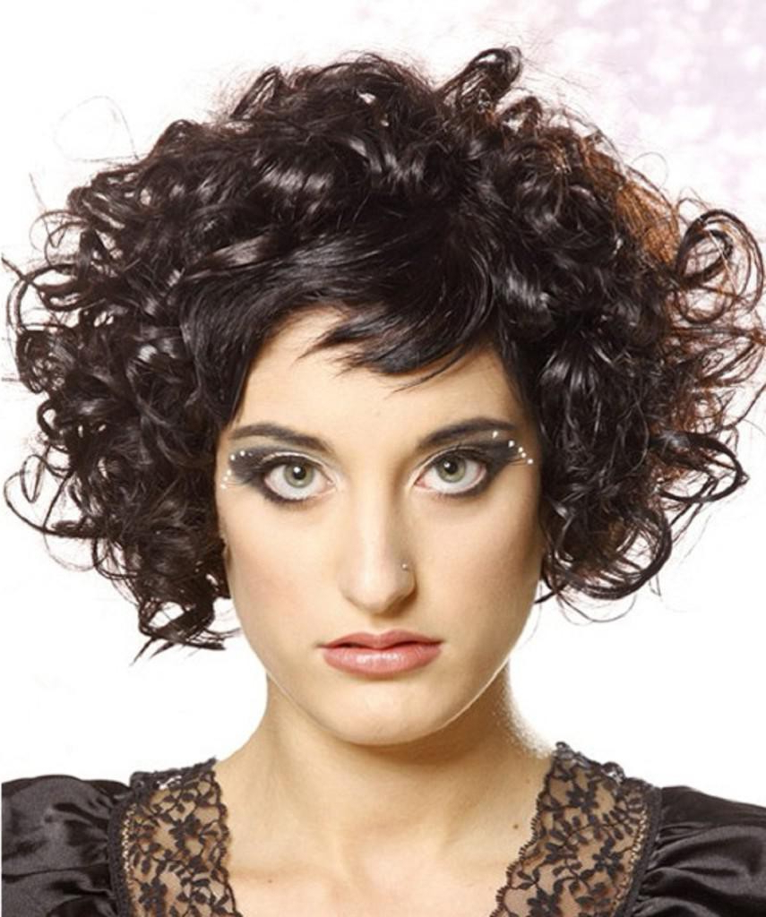 Short Hairstyles For Round Faces And Thick Curly Hair — Fitfru Inside Short Hairstyles For Round Faces Curly Hair (View 24 of 25)