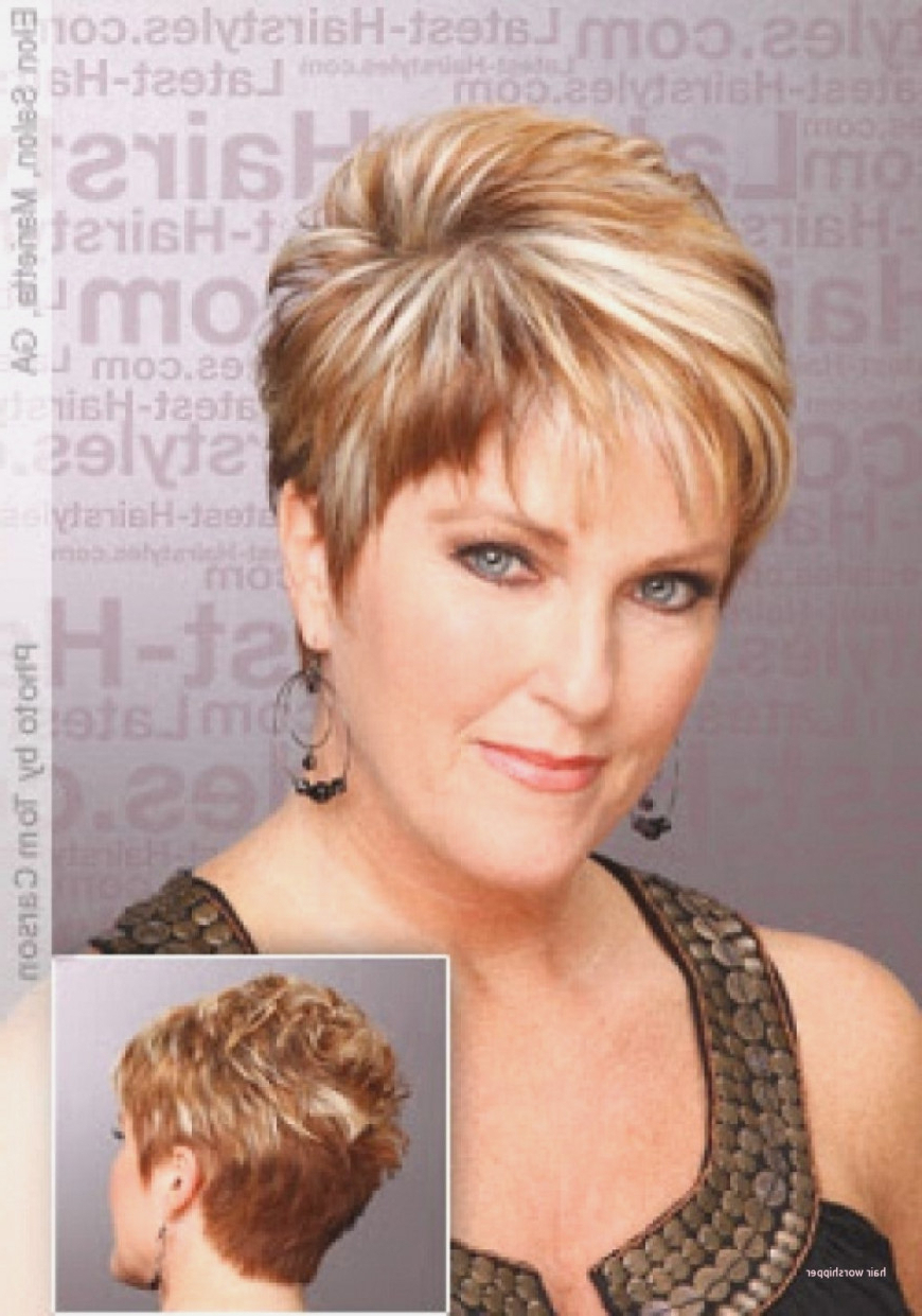Short Hairstyles For Round Faces And Thick Hair Intended For Short Haircuts For Round Faces And Thick Hair (View 19 of 25)