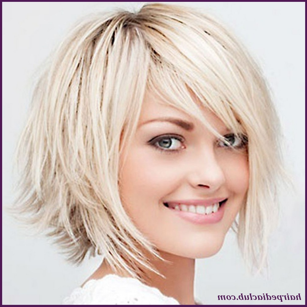 Short Hairstyles For Round Faces And Thick Hair – Leymatson With Regard To Short Haircuts For Thick Fine Hair (View 14 of 25)