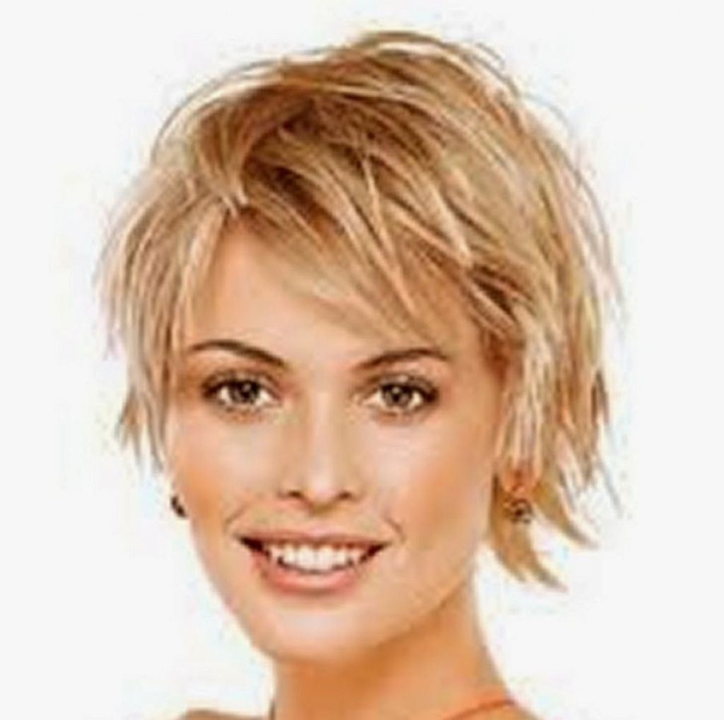 Short Hairstyles For Round Faces And Thin Hair 2016 Cute Short Inside Cute Short Hairstyles For Thin Hair (View 8 of 25)