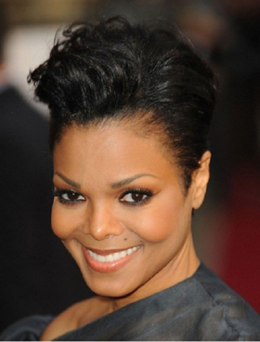 Short Hairstyles For Round Faces Black Hair For Short Hairstyles For Round Faces African American (View 22 of 25)
