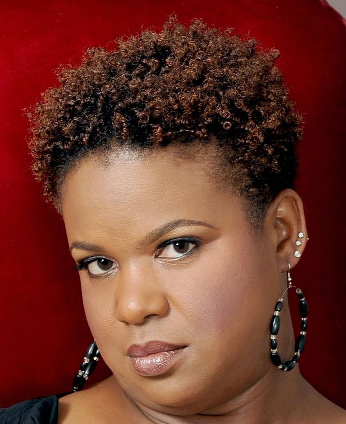 Short Hairstyles For Round Faces Black Natural Hair Inside Natural Short Hairstyles For Round Faces (View 9 of 25)