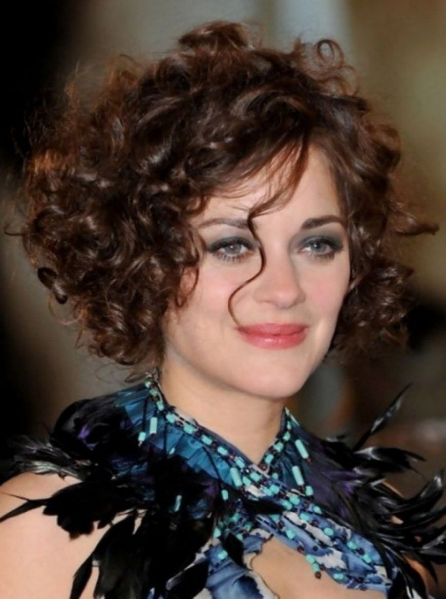 Short Hairstyles For Round Faces Over 50 Curly Hair   Hairstyles Regarding Short Hairstyles For Round Faces Curly Hair (View 12 of 25)