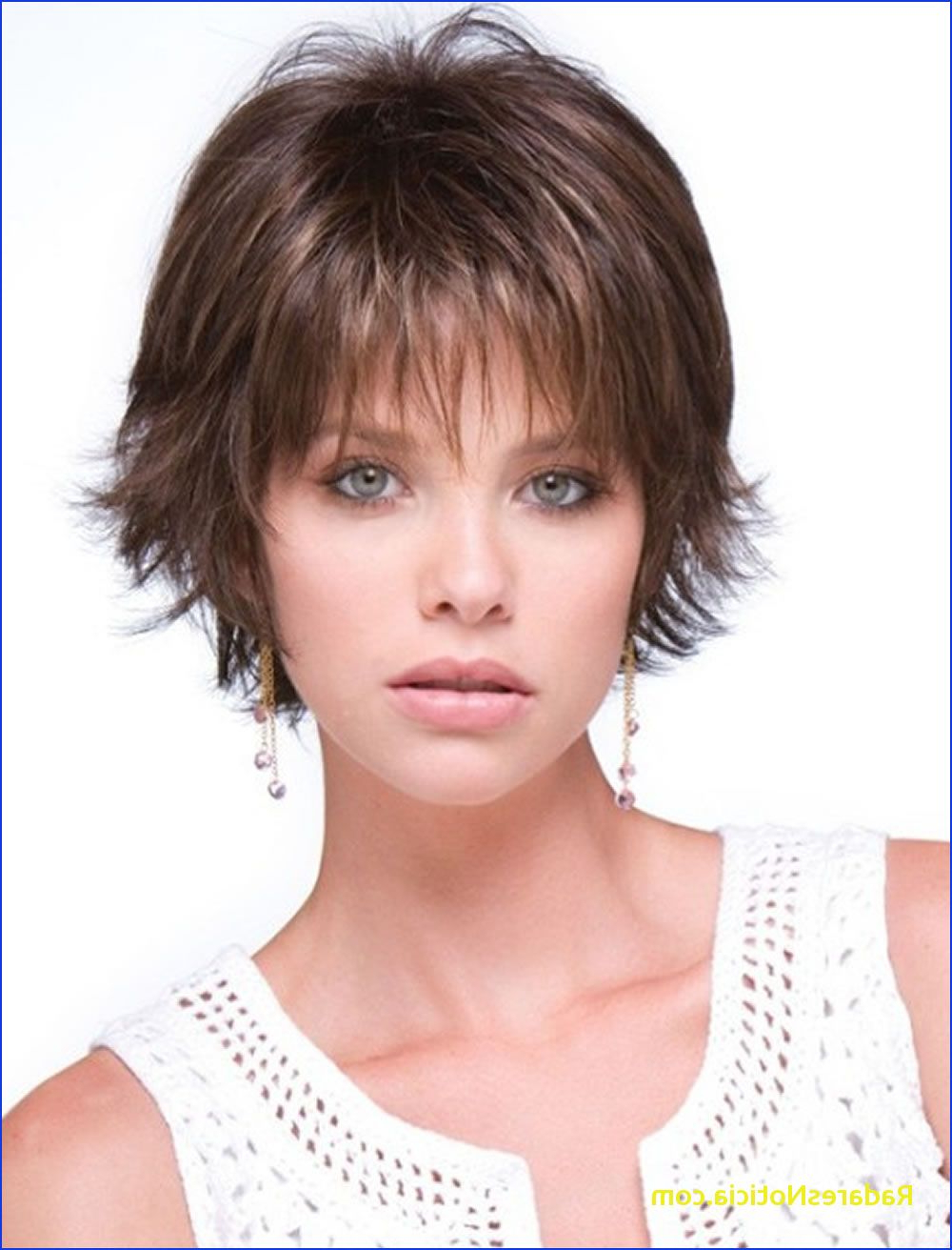 Short Hairstyles For Round Faces Short Haircuts For Round Face Thin Regarding Short Haircuts For Thin Faces (View 11 of 25)