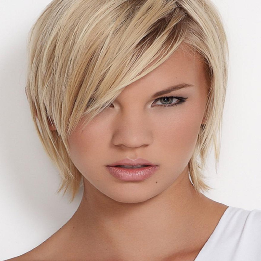Short Hairstyles For Thin Fine Hair And Round Face 2018 For Short Hairstyles For Thin Fine Hair And Round Face (View 3 of 25)