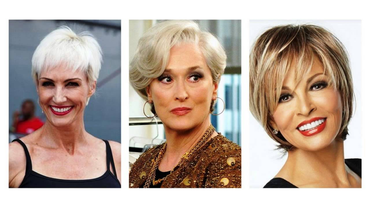 Short Hairstyles For Women Over 50 – Youtube Pertaining To Over 50S Hairstyles For Short Hair (View 19 of 25)