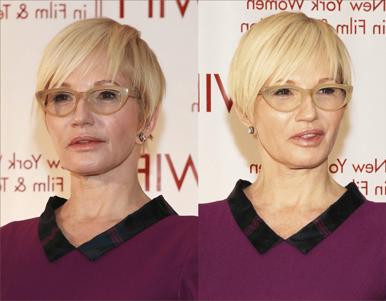 Short Hairstyles For Women With Round Faces And Glasses Beautiful 34 In Short Hairstyles For Round Faces And Glasses (View 21 of 25)