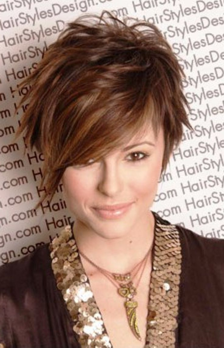 Short Hairstyles Round Face Thin Hair – Google Search   Mcw Hair In With Funky Short Haircuts For Fine Hair (View 11 of 25)