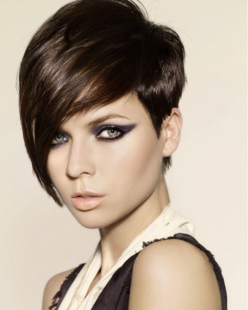 Short Hairstyles: Samples Ideas Short One Sided Hairstyles Throughout One Sided Short Hairstyles (View 2 of 25)