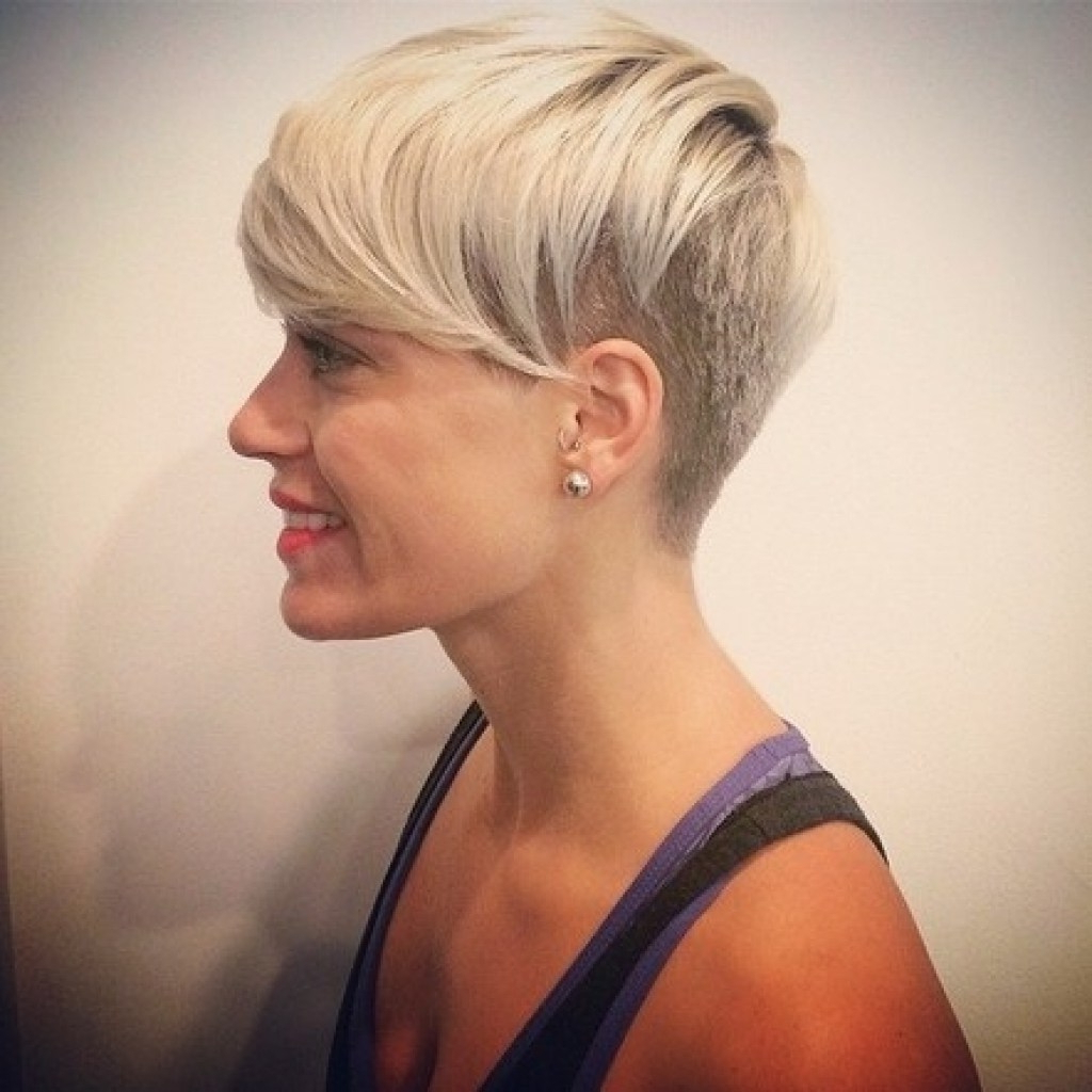 Short Hairstyles Shaved Sides And Back – Leymatson Within Part Shaved Short Hairstyles (View 8 of 25)