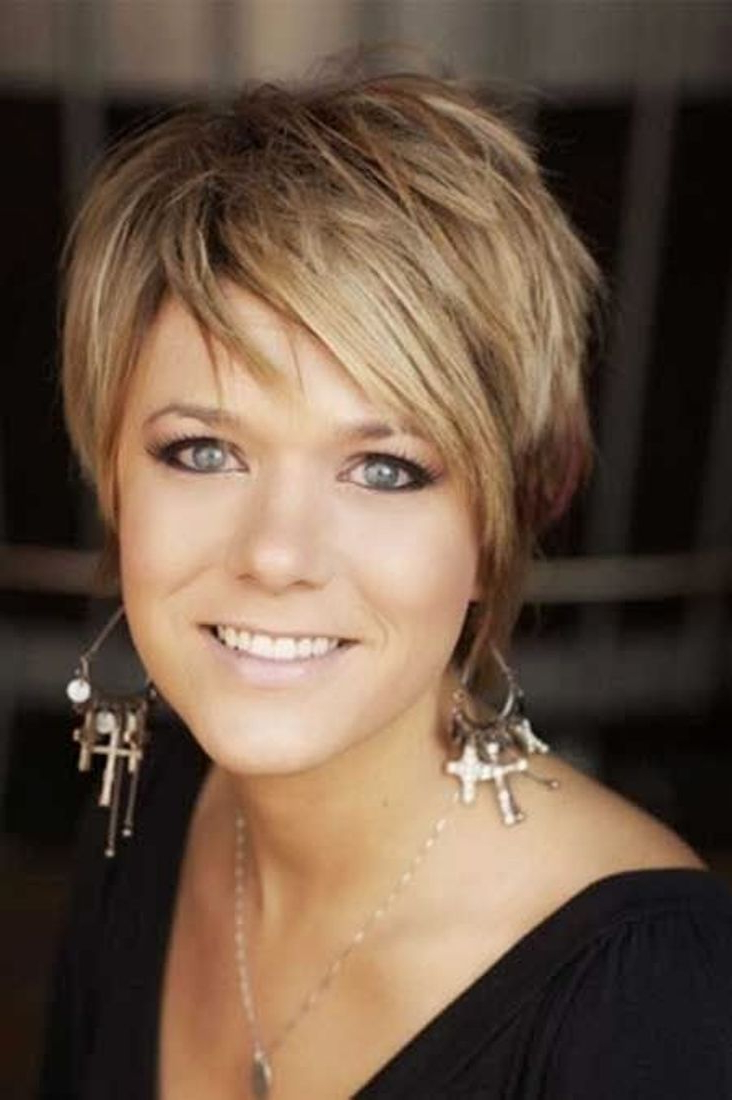Short Hairstyles: Short Hairstyles Over 40 Round Face Images Short In Short Funky Hairstyles For Over  (View 5 of 25)