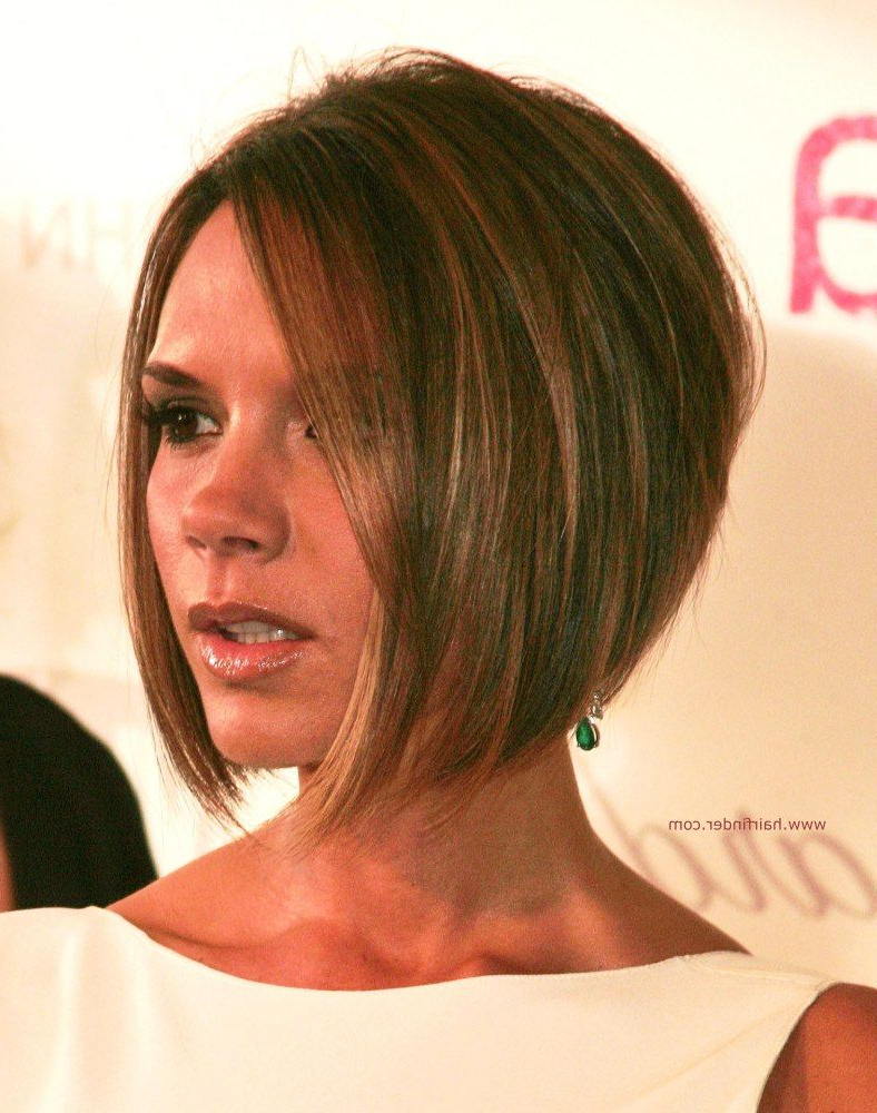 Short Hairstyles Stacked In The Back Victoria Beckham Longer In The In Victoria Beckham Short Hairstyles (View 11 of 25)