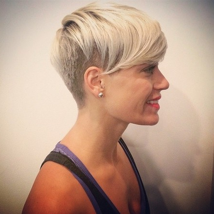 Short Hairstyles With Shaved Side | All Hairstyles Pertaining To Short Hairstyles With Both Sides Shaved (View 8 of 25)