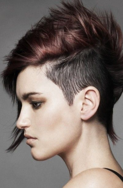 Short Half Shaved And Side Swept Pixie Hairstyle (View 21 of 25)