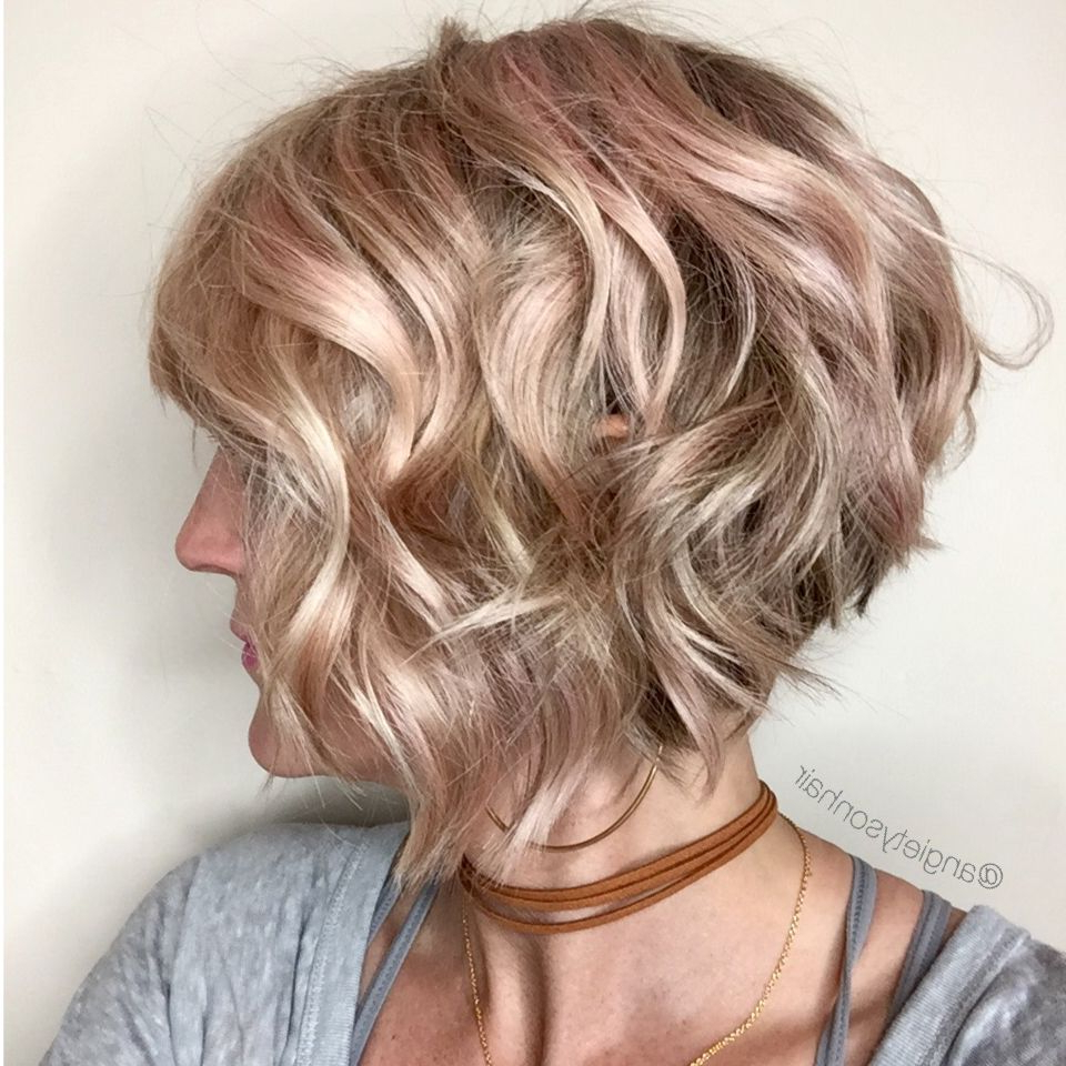 Featured Photo of Inverted Brunette Bob Hairstyles With Messy Curls