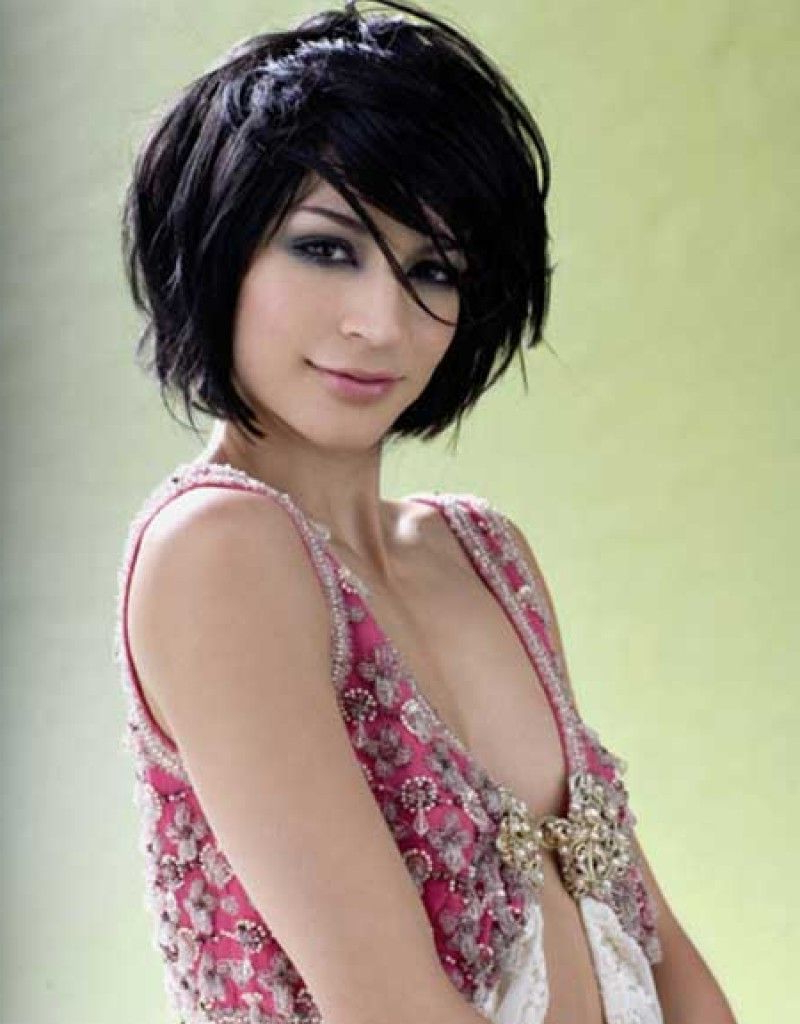 Short Layered Bob Hairstyles Front And Back View – Hollywood With Regard To Shorter Black Messy Hairstyles (View 2 of 25)