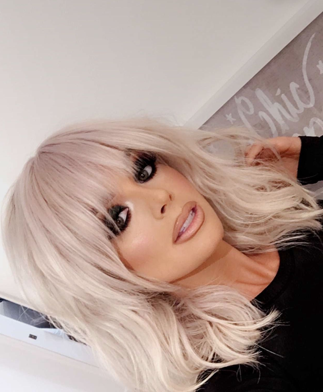 Short, Layered Haircut With Bangs– Looks Gorgeous On Platinum Hair Pertaining To Short Blonde Hair With Bangs (View 19 of 25)