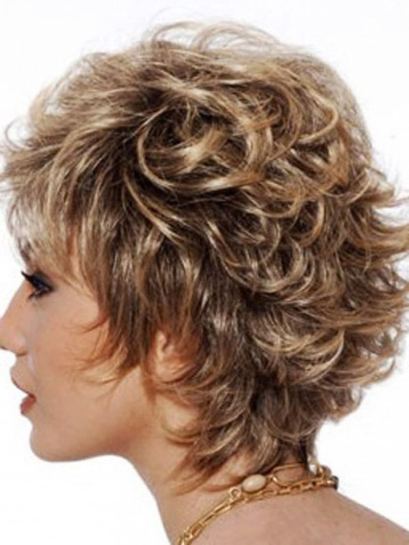 Short Layered Haircuts For Women Front And Back View Back View Shor In Layered Haircuts For Short Curly Hair (View 3 of 25)