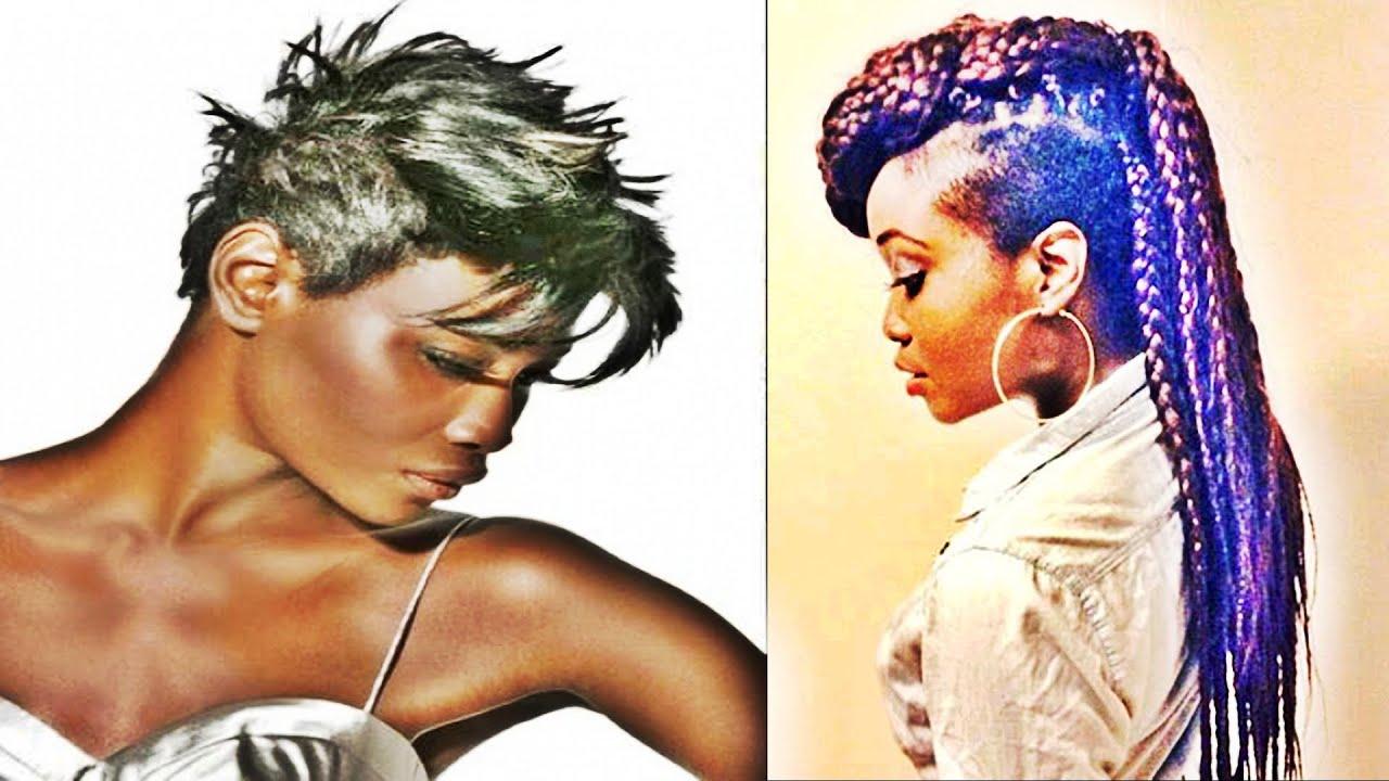 Short Mohawk Hairstyles For Black Women – Youtube Pertaining To Mohawk Short Hairstyles For Black Women (View 13 of 25)