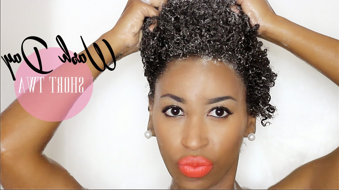 Short Natural Hair: An Easy Wash Day Routine For Moisturized And Regarding Naturally Curly Short Haircuts (View 24 of 25)
