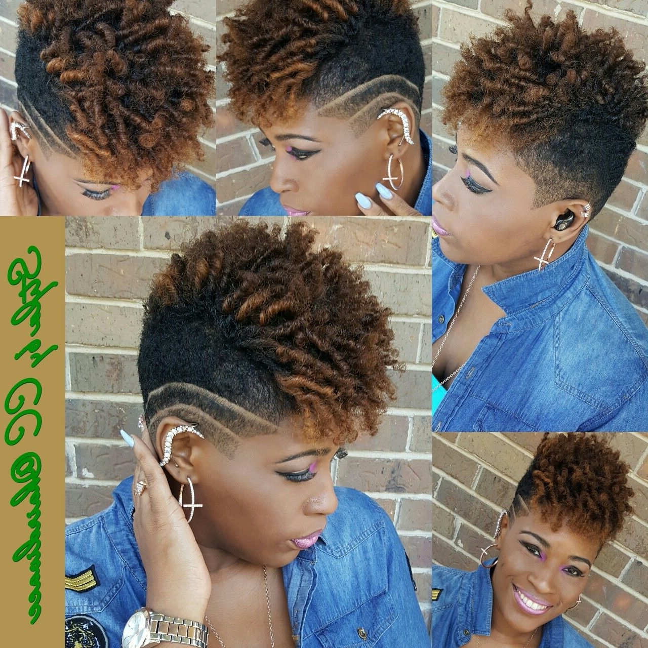 Short Natural Undercut Black Women Short Cuts | Tapered Natural Hair With Regard To Soft Curly Tapered Pixie Hairstyles (View 3 of 25)