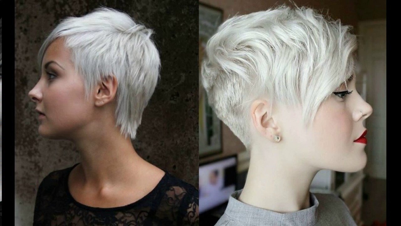 Short Pixie Haircuts For Gray Hair – Youtube Regarding Gray Hair Short Hairstyles (View 3 of 25)