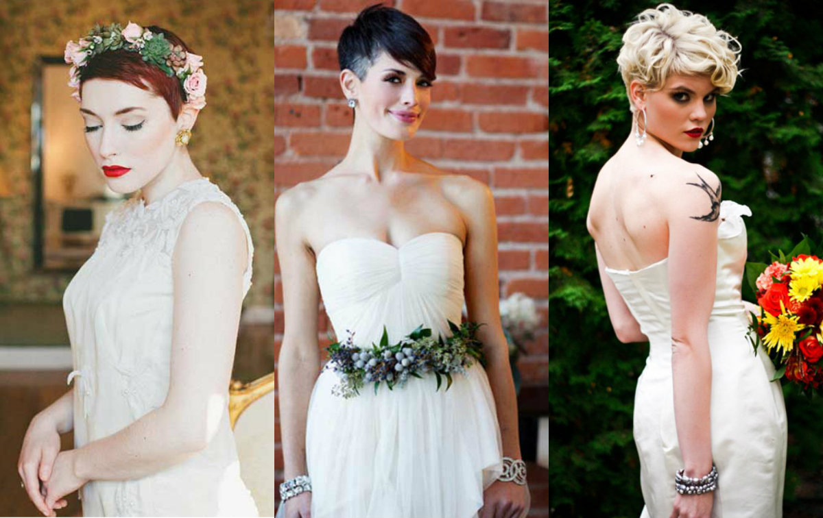 Short Pixie Wedding Hairstyles To Inspire All Brides | Hairstyles Inside Hairstyles For Brides With Short Hair (View 23 of 25)