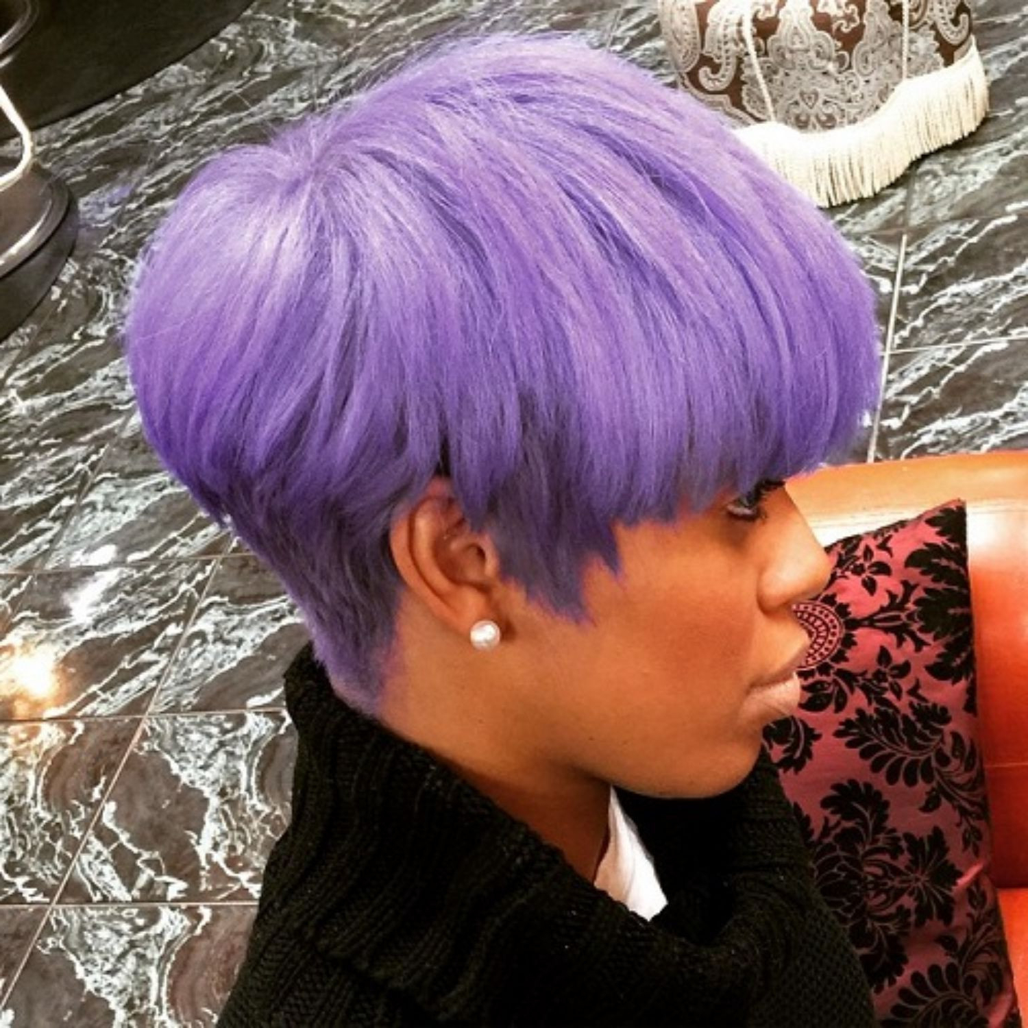 Short Purple Hairstyles Unique 60 Great Short Hairstyles For Black Throughout Purple And Black Short Hairstyles (View 15 of 25)