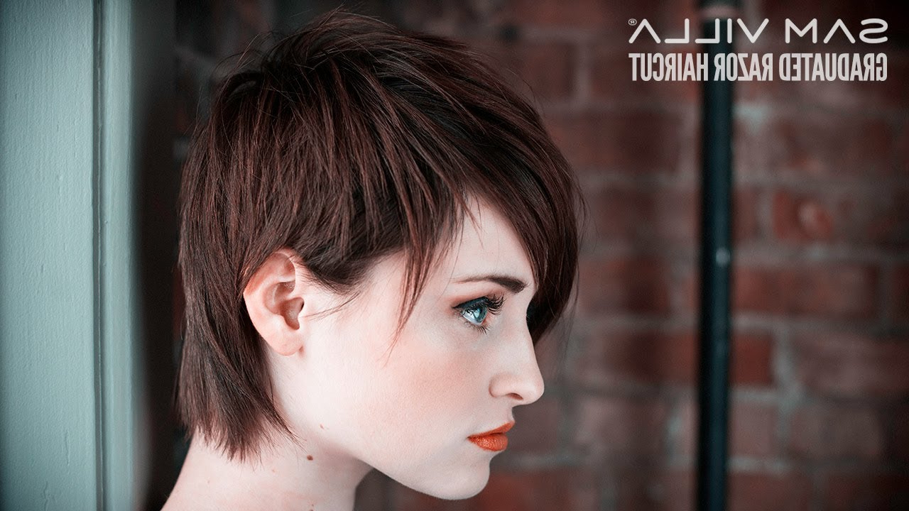 Short Razor Haircut Tutorial – How To Create Scattered Graduation With Razor Cut Short Hairstyles (View 5 of 25)