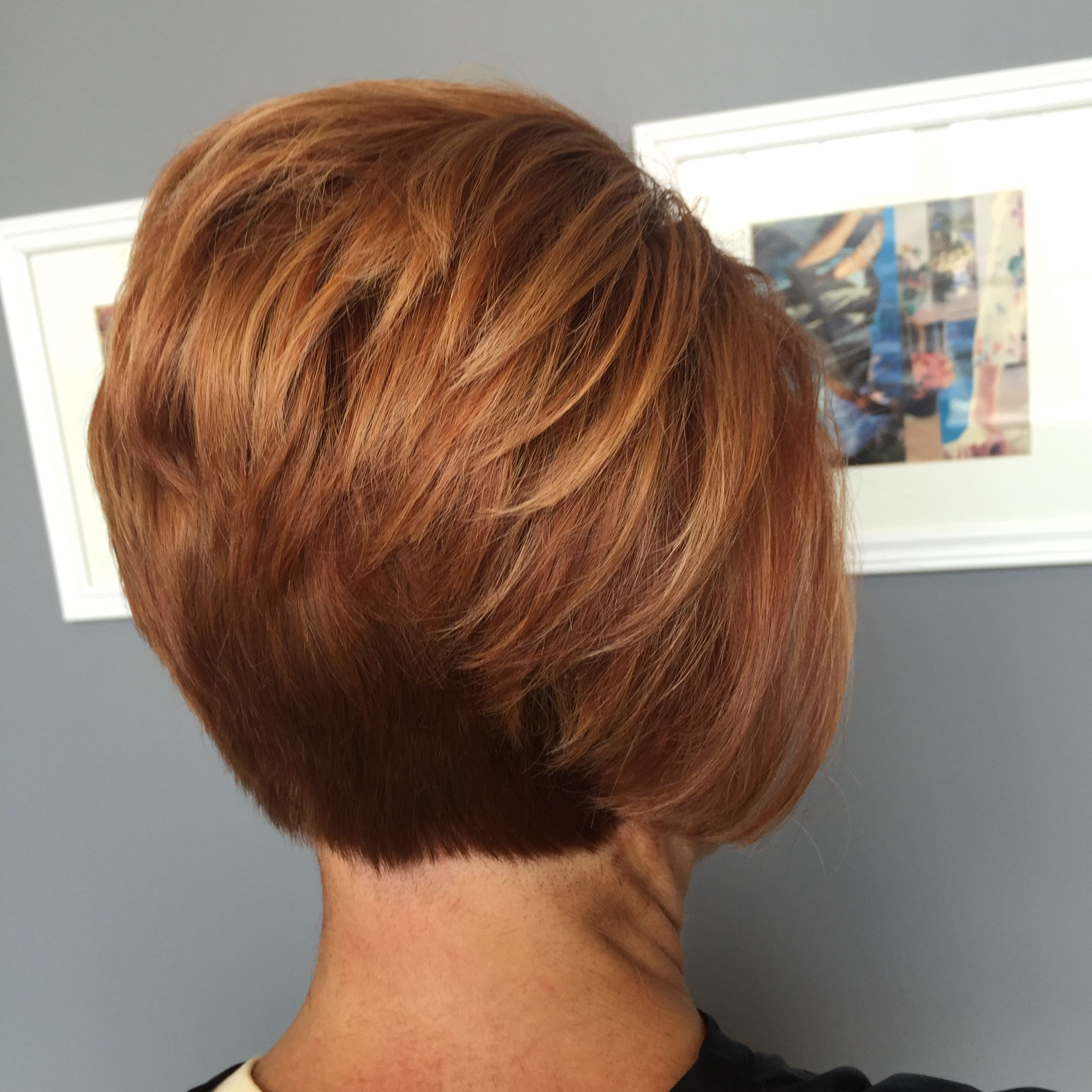 Short Red Stacked Bob … | Hair In 2018… In Inverted Bob Short Haircuts (View 24 of 25)