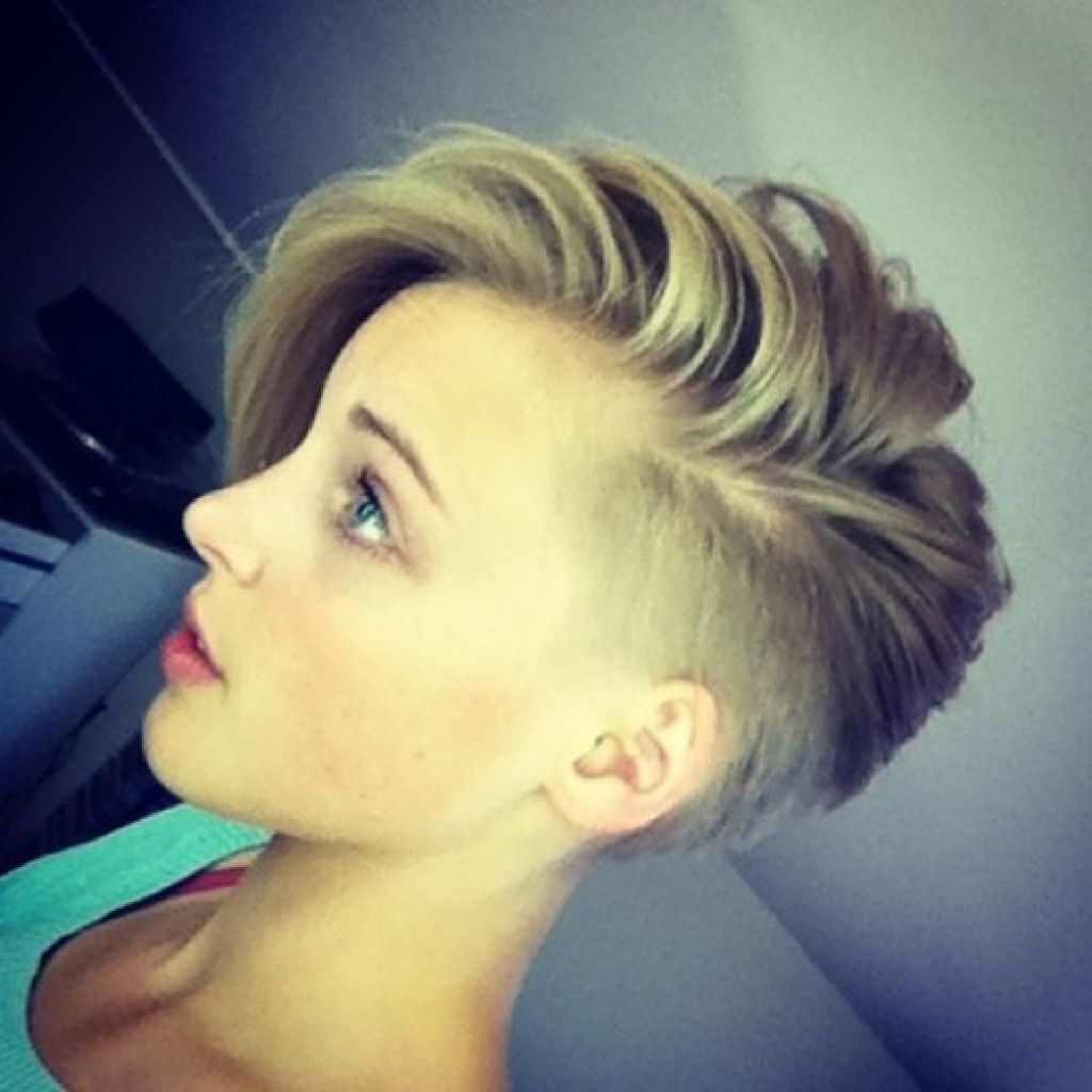 Short Shaved Hairstyles For Women | Hair & Nails | Pinterest | Hair Throughout Short Hairstyles One Side Shaved (View 1 of 25)